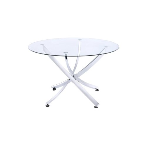 Walsh Contemporary Chrome Dining Table
