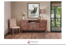 """70"""" TV-Stand w/6 Drawers, 2 Wooden Doors - KD System"""