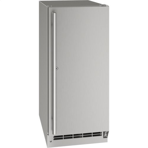 """Outdoor Collection 15"""" Refrigerator With Stainless Solid (lock) Finish and Field Reversible Door Swing (115 Volts / 60 Hz)"""
