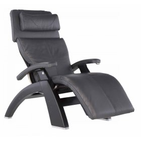 Perfect Chair PC-420 Classic Manual Plus - Gray Premium Leather - Matte Black