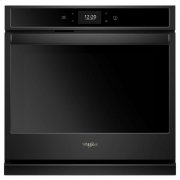 Whirlpool® 4.3 cu. ft. Smart Single Wall Oven with True Convection Cooking - Black Product Image