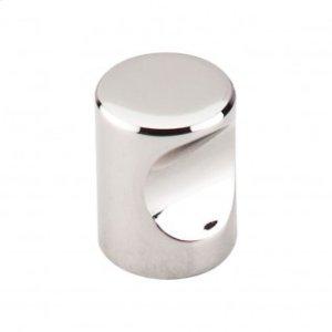 Nouveau Indent Knob 3/4 Inch - Polished Nickel