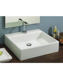 "White BOX 50 Vessel Lavatory 19"" x 14"""