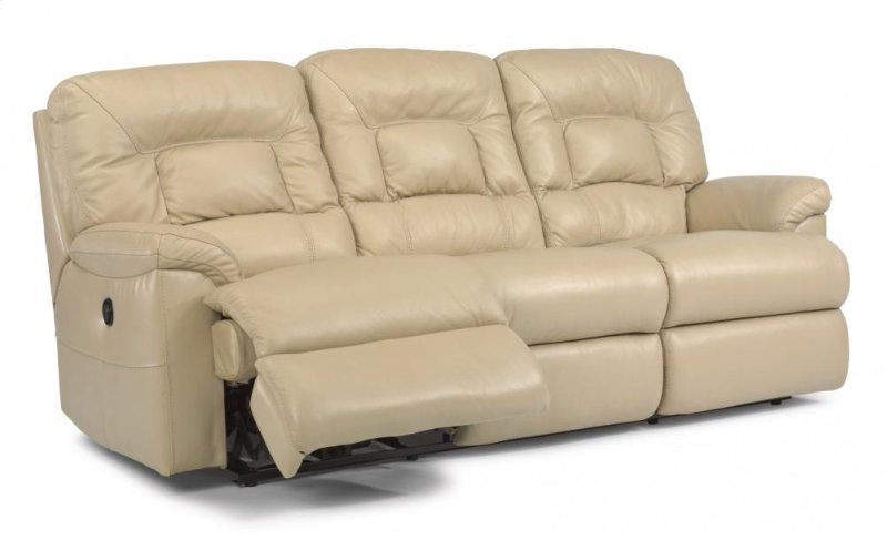 Hidden Additional Great Escape Leather Or Fabric Reclining Sofa