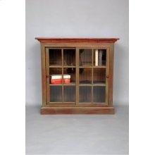 """#423 Sliding Door Bookcase 38.5""""wx16dx37.5:h"""
