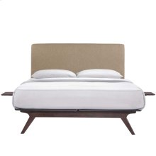Tracy 3 Piece Full Bedroom Set in Cappuccino Latte