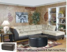 SanMarChocolate/Padded Walnut 2450LFS - Left Side Facing Sofa