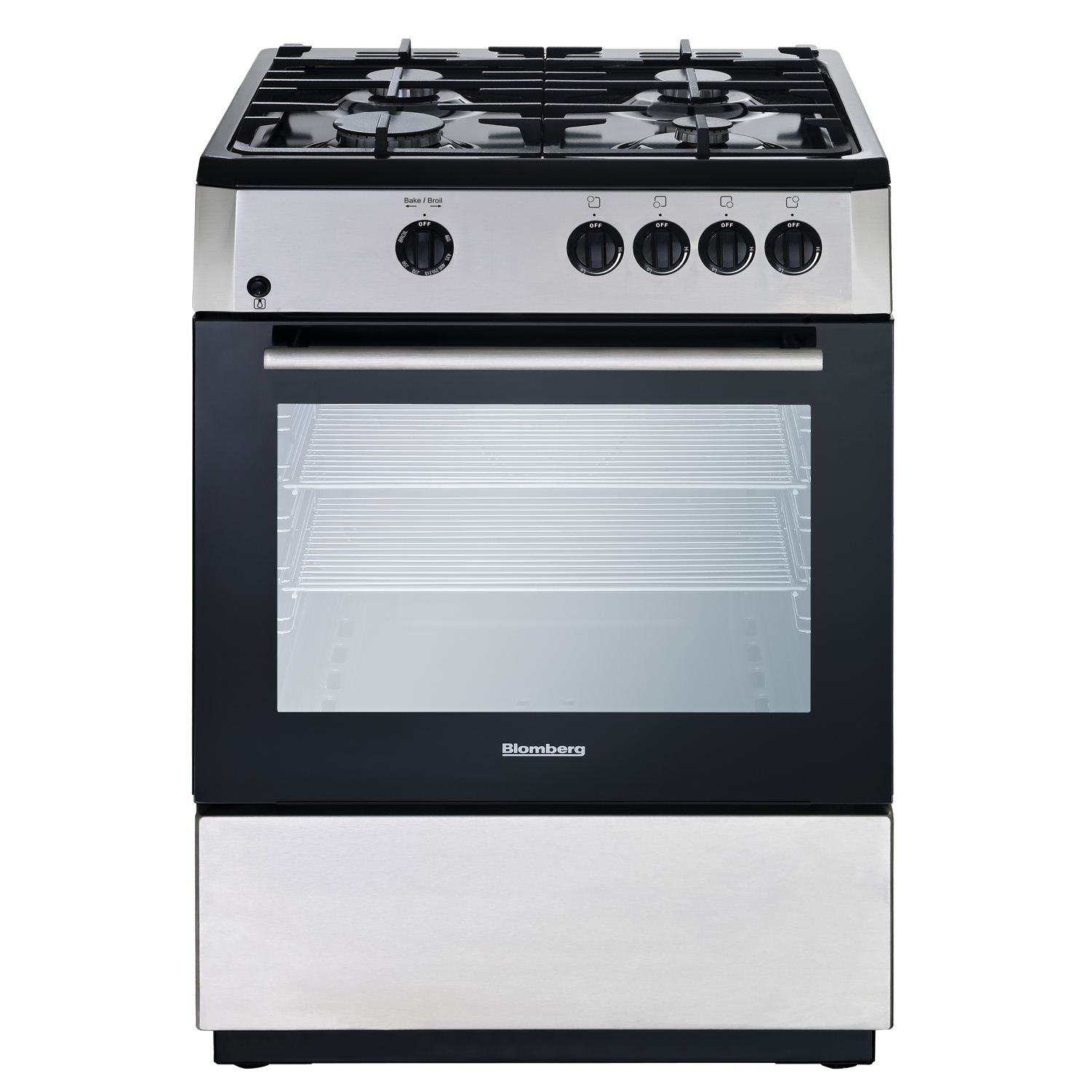 "24"" Freestanding gas range, Stainless Steel