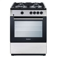"24"" Freestanding gas range, Stainless Steel"
