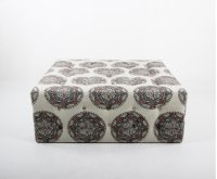 Tufted square ottoman Product Image