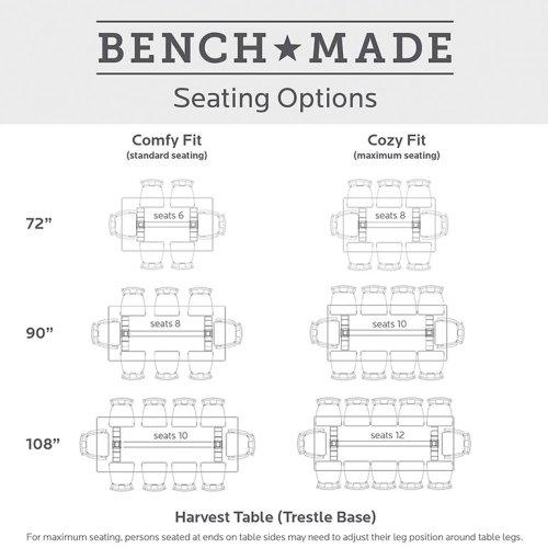 "Bench*Made Maple 90"" Rectangular Table"