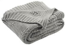 COZY KNIT THROW - Medium Grey / Light Grey