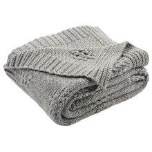 Cozy Knit Throw - Medium Grey/light Grey