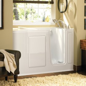 Gelcoat 28x48-inch Walk-in Tub with Air Spa System  American Standard - White