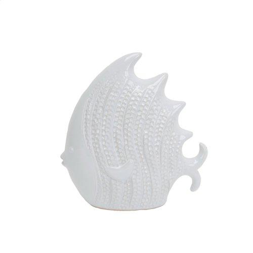"""White Ceramic Fish 9.5"""""""