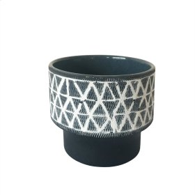 "Ceramic 4.5"" Planter Gray"