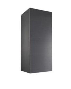 Optional flue extension for EW Series Range Hoods in Black Stainless Steel for 10' ceiling application (Ducted)