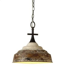 Distressed White Pendant Lamp. 60W Max. Hard Wire Only.