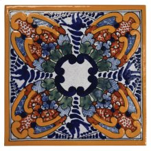 """4"""" Jacaranda Decorative Talavera Tiles"""