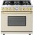 Additional Range DECO 36'' Classic Cream matte, Gold 6 gas, electric oven, self-clean
