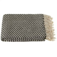 Black & Cream Arrow Stripe Throw.