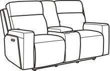 Niko Leather Power Reclining Loveseat with Console and Power Headrests