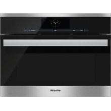 DGC 6805-1 Steam oven with full-fledged oven function and XL cavity - the Miele all-rounder with mains water connection for discerning cooks.