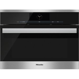 MieleDGC 6805-1 Steam oven with full-fledged oven function and XL cavity - the Miele all-rounder with mains water connection for discerning cooks.