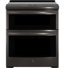 """GE Profile™ Series 30"""" Slide-In Electric Double Oven Convection Range"""