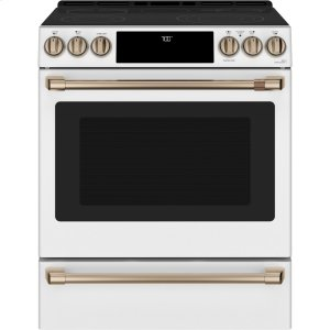 "GE30"" Slide-In Front Control Radiant and Convection Range with Warming Drawer"