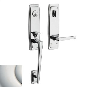 Polished Nickel with Lifetime Finish Palm Springs 3/4 Escutcheon Handleset