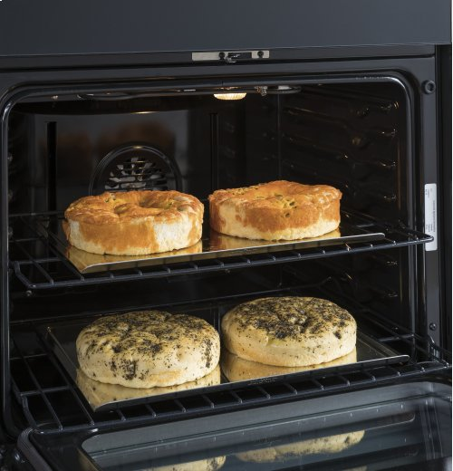 """GE Profile Series 30"""" Slide-In Electric Double Oven Convection Range"""