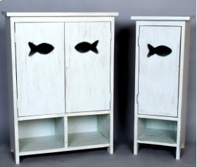 "#480 1 Door Fish Cabinet 12""wx11""dx33""h #481 2 Door Fish Cabinet 24""wx11""dx33""h"