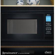 "Renaissance 24"" Microwave Oven in Black"