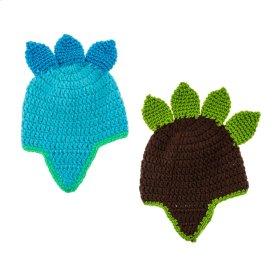 6 pc. ppk. Dino Crochet Hats