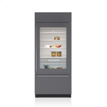 """36"""" Classic Over-and-Under Refrigerator/Freezer with Glass Door - Panel Ready"""