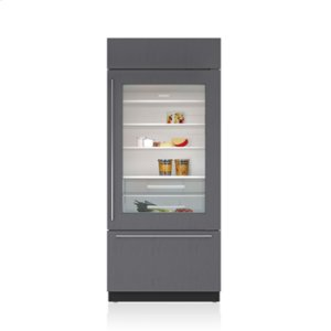 "Subzero36"" Classic Over-and-Under Refrigerator/Freezer with Glass Door - Panel Ready"