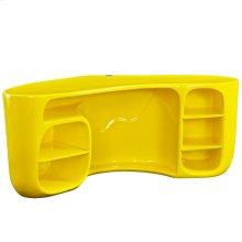 Impression Fiberglass Desk in Yellow