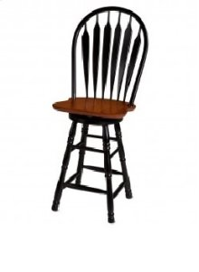 "Sunset Trading 30"" Comfort Barstool in Antique Black and Cherry - Sunset Trading"