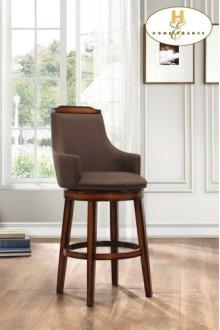 Swivel Pub Height Chair, Chocolate Fabric