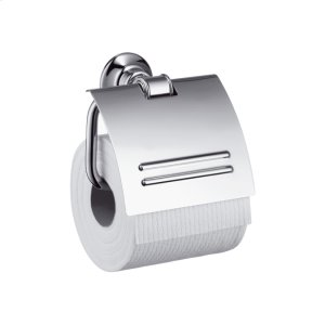 Chrome Toilet Paper Holder with Cover Product Image