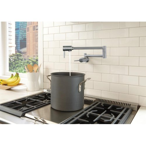 Arctic Stainless Contemporary Wall Mount Pot Filler