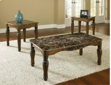 Dark Brown Faux Marble Top 3 Pack