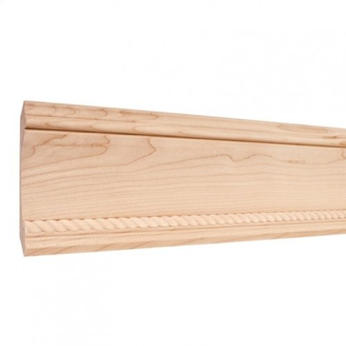 """4-7/8"""" x 3/4"""" Crown Moulding with 1/2"""" Rope Species: Hard Maple. Priced by the linear foot and sold in 8' sticks in cartons of 64'."""