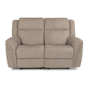 FLEXSTEELSilas Fabric Power Reclining Lovesear with Power Headrests