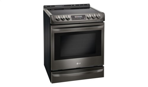 LG Black Stainless Steel Series 6.3 cu. ft. Electric Slide-in Range with ProBake Convection® and EasyClean®