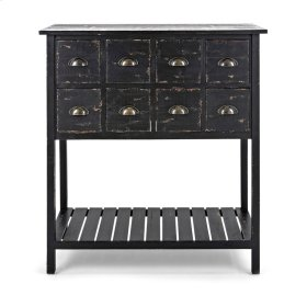 Alfredo Wooden 8-Drawer Console