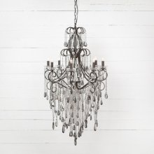 Charlotte Chandelier 8 Light-smoked