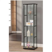 Contemporary Glass and Black Curio Cabinet