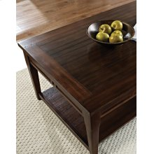 Crestline Lift Top Cocktail Table w/ Casters